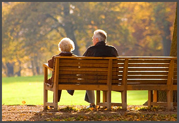 Elder Couple in the Park