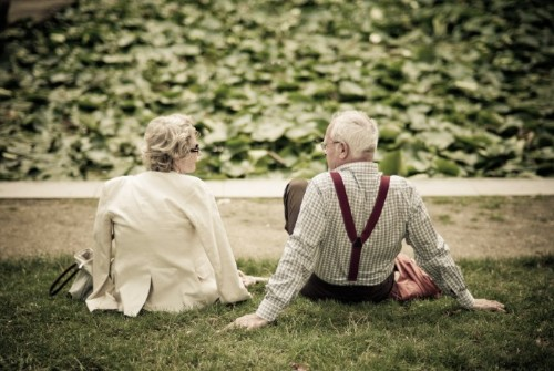 Elder Couple Resting